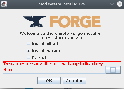 Installation Forge